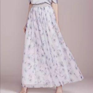Lauren Conrad | Tulle Full Length Floral Skirt | M